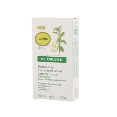 Klorane KLORANE Shampooing puple cedrat 200 ml - Turunçgiller ekstreli şampuan (mat saçlar için ışıltı veren) Renksiz